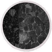 The B And W Wall Round Beach Towel