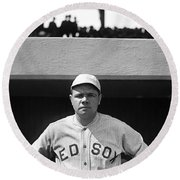 The Babe - Red Sox Round Beach Towel
