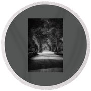 The Backroad Round Beach Towel