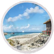 The Bahamas Islands Round Beach Towel