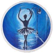 The Ballerina Dance Round Beach Towel