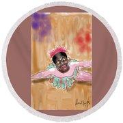 The Ballerina Round Beach Towel