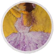 The Ballet Dancer Round Beach Towel by David Patterson