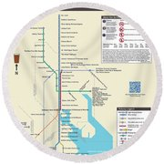 The Baltimore Pubway Map Round Beach Towel