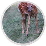 The Bambi Stance Round Beach Towel
