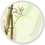 The Bamboo Branch Round Beach Towel