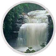 The Base Of Angel Falls In Canaima National Park Venezuela Round Beach Towel