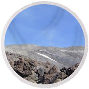 The Base Of Mt St Helens  Round Beach Towel