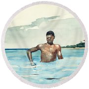 The Bather, 1899 Round Beach Towel