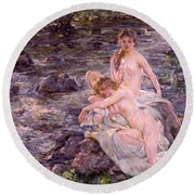 The Bathers Round Beach Towel