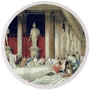The Baths Of Caracalla Round Beach Towel