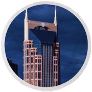The Batman Building - Nashville Round Beach Towel