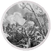 The Battle Of Bull Run Round Beach Towel by War Is Hell Store