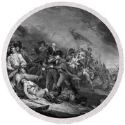 The Battle Of Bunker Hill Round Beach Towel