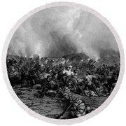 The Battle Of Gettysburg Round Beach Towel