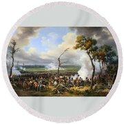 The Battle Of Hanau Round Beach Towel