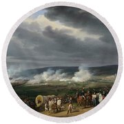 The Battle Of Jemappes Round Beach Towel