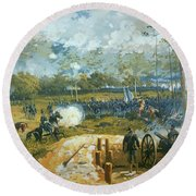 The Battle Of Kenesaw Mountain Round Beach Towel by American School