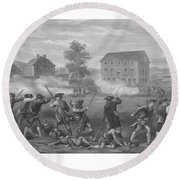 The Battle Of Lexington Round Beach Towel by War Is Hell Store