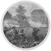 The Battle Of Lexington Round Beach Towel