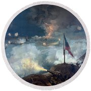The Battle Of Port Hudson - Civil War Round Beach Towel