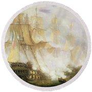 The Battle Of Trafalgar Round Beach Towel