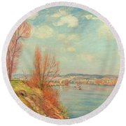 The Bay And The River Round Beach Towel by Jean Baptiste Armand Guillaumin