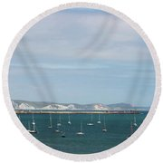 The Bay At Weymouth  Round Beach Towel