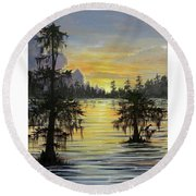 The Bayou Round Beach Towel