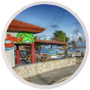 The Beach - Arashi Beach - Aruba - West Indies Round Beach Towel