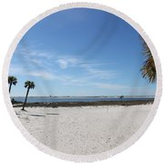 The Beach At The Isle Dauphine Round Beach Towel