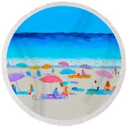 The Beach Holiday Round Beach Towel