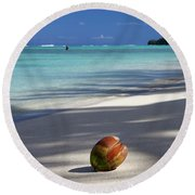 The Beaches Of Rarotonga Round Beach Towel