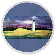 The Beacon Round Beach Towel