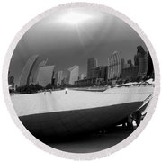 The Bean B-w Round Beach Towel