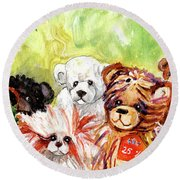 The Bears From The Yorkshire Moor 02 Round Beach Towel