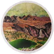 The Bear's Tooth Highway Summit Round Beach Towel