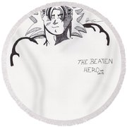 The Beaten Hero Round Beach Towel