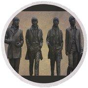The Beatles N F Round Beach Towel