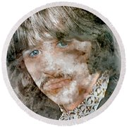 The Beatles Ringo Starr Round Beach Towel