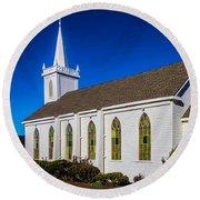 The Beautiful Bodega Church St. Teresas Of Avila  Round Beach Towel