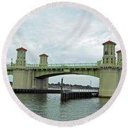 The Beautiful Bridge Of Lions Round Beach Towel