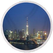 The Beautiful Bund, Shanghai, China Round Beach Towel