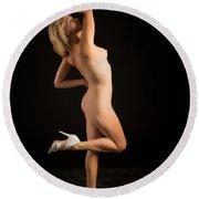 The Beautiful Female Nude Fine Art Prints Or Photographs  4259.0 Round Beach Towel