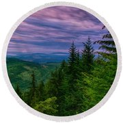 The Beautiful Olympic Mountains At Dawn - Olympic National Park, Washington Round Beach Towel