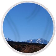 The Beautiful Rockies Round Beach Towel