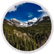 The Beautiful San Juan Mountains Round Beach Towel