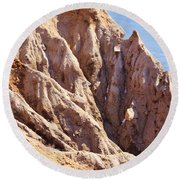 The Beauty In Erosion Round Beach Towel