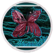 The Beauty Of A Butterfly's Spirit Round Beach Towel