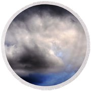 The Beauty Of Clouds Round Beach Towel